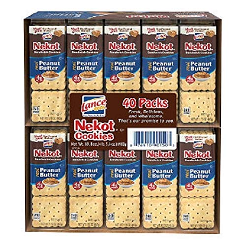 Lance Nekot Peanut Butter Cookies - 3 Boxes of 8 Individual Packs