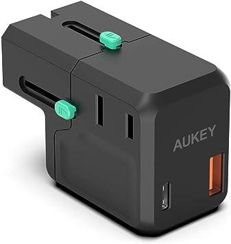 AUKEY USB C Cargador de Red 18 W,Cargador portatil de 2 Puertos con Power Delivery 3.0 para iPhone 12/iPhone 12 Pro/12 Pro MAX/iPhone 11/11 pro/11 Pro ...