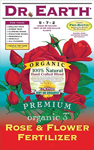 Dr. Earth 709 Organic 3 Rose & Flower Fertilizer, 12-Pound by Dr. Earth