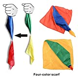 Magic Silk Scarf 1 Piece Color Changing Hanky for Magic Trick Streets Toys