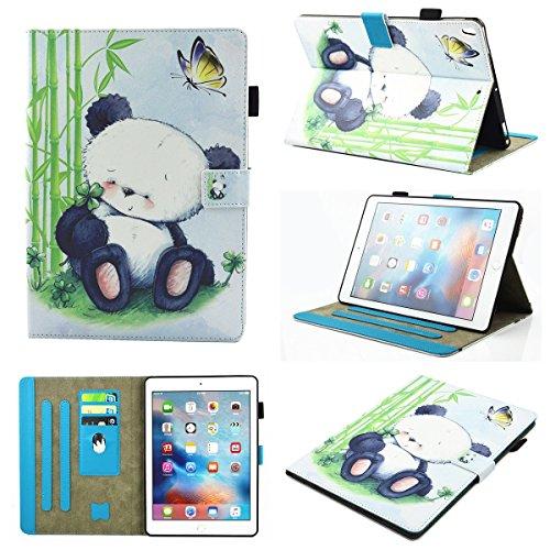 inShang iPad iPad Pro 10.5 Fundas soporte y carcasa para iPad Pro 10.5 inch ((2017 Release) , smart cover PU Funda con Patrón de Diamante + clase alta 2 in 1 inShang marca negocio Stylus pluma Panda