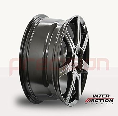 Full set of 15 Alloy Wheels For ṾW Polo 9N/_ SIRIUS Gloss Black 2001-2009 Hatchback V15605100E38ZT57SIR-42053