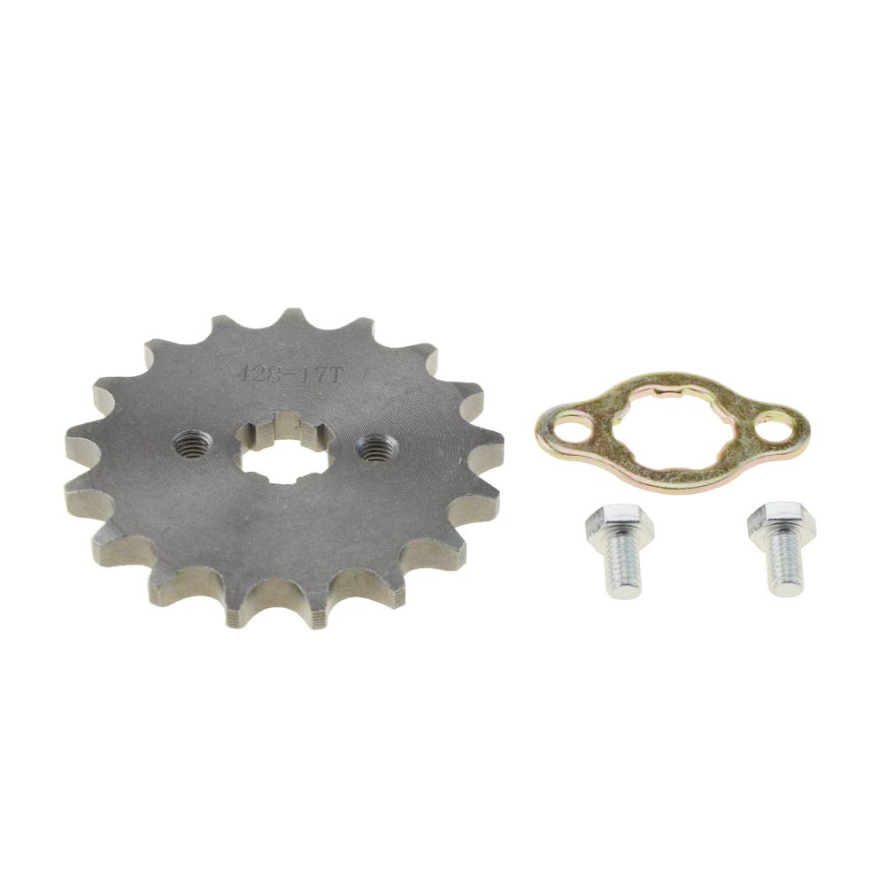 WOOSTAR 428 17T 17mm Hole Sprocket for Motorcycle ATV Dirtbike