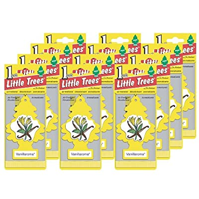 LITTLE TREES Car Air Freshener | Hanging Paper Tree for Home or Car | Vanillaroma | 12 Pack: Automotive