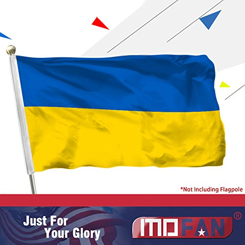 MOFAN Ukraine Flag Polyester Nicely Stitched and Vivid Bright Color Ukrainian National Flags World Flag with 2 Solid Grommets 3x5ft Indoor/Outdoor Home Garden Decorations