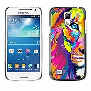 For SAMSUNG Galaxy S4 mini VERSION! / i9190 / i9192 Case , Poster Art Colorful Vibrant Magenta - Diseño Patrón Teléfono Caso Cubierta Case Bumper Duro Protección Case Cover Funda