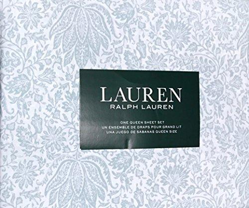Ralph Lauren 4 Piece Queen Sheet Set - Slate Blue French Cou