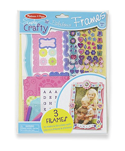 Melissa & Doug Simply Crafty Fabulous Frames Craft Kit (Makes 3 Picture Frames)