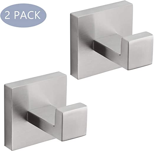 Satin 10 x Coat//Robe Hook Stainless Steel brushed