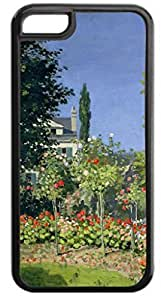 Claude Monet's Flowering Garden - Case for the APPLE iphone 5c ONLY-Soft Black Rubber Outer Case