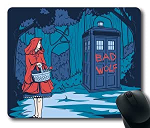 """Custom Illustration Painting Big Bad Wolf Oblong Mouse Pads/ Standard Rectangle Gaming Mousepad in 9""""7 by icecream design"""