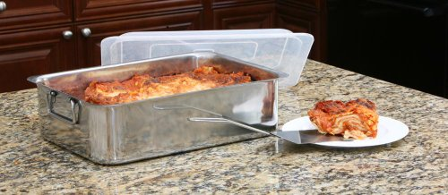 COOKPRO 531 4PC STAINLESS STEEL ROASTER LASAGNA PAN ROASTER by Cook Pro