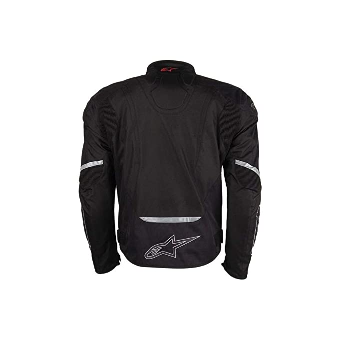 Alpinestars Chaqueta T-Jaws 2017 / deportiva impermeable chaqueta de moto con protecciones (L, negro - amarillo neón)