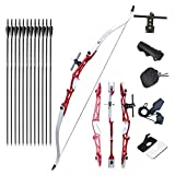 Tongtu 64' 30LBS Takedown Recurve Bow and Arrows for Adult Beginners Archery Set Hunting Bow Kit Right Hand