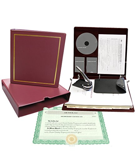 Corpkit Customized Thriftkit Corporate Kit with Operating agreement, Burgundy Binder, Slipcase, Limited Liability Seal, Membership Certificates with Transfer (Membership Certificate)