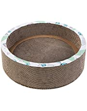 Gladiour XLarge Round Cat Scratching Bed,Cat Scratch Pad,Cat Scratcher Post & Board, Scratching Post,Scratcher Cardboard,Scratching Cat Toy,Corrugated Cat Scratcher Board Round,Unique Double Texture Surface Durable Design,Round Shape,XLarge Size