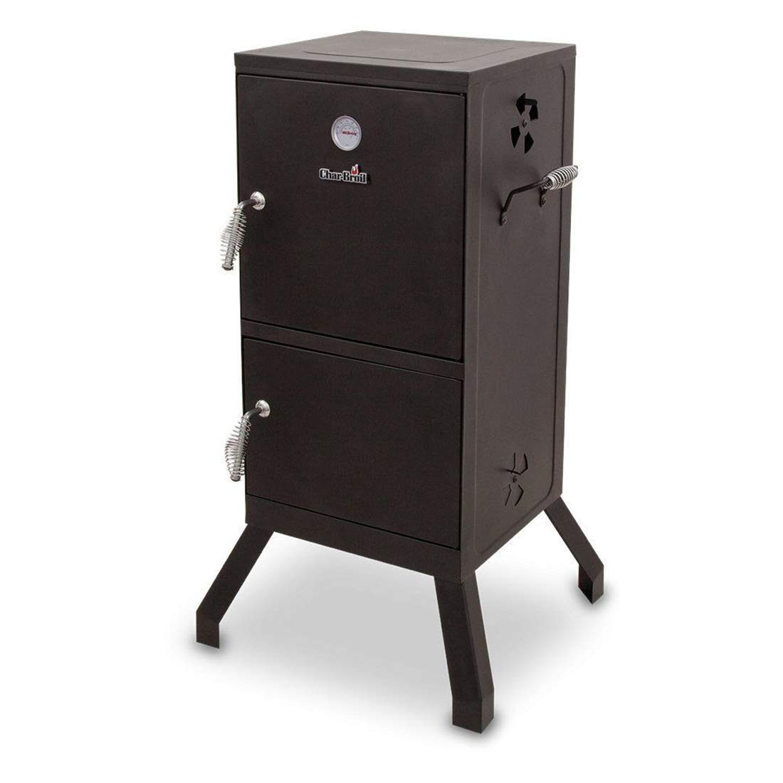 FossExpress New Grill Cooker [Vertical Steel Chamber 21.5 x 20.8 x 39 inches] - Charcoal Smoker - Work Great for BBQ Cooking - Outdoor, Patio Backyard - Black by FossExpress (Image #1)