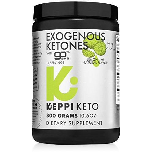 Keto Powder Exogenous Ketones Salts Dietary Keppi Supplement Drink for Ketogenic Diet (10.5 oz): hydroxybutyrate (bhb)