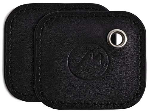 Tile Mate Case by Metier Life | Gen 2 Tile Phone and Item Finder Vegan Leather Key FOB Cover | Elegant Protection with Included Keyring (Black 2 Pack)