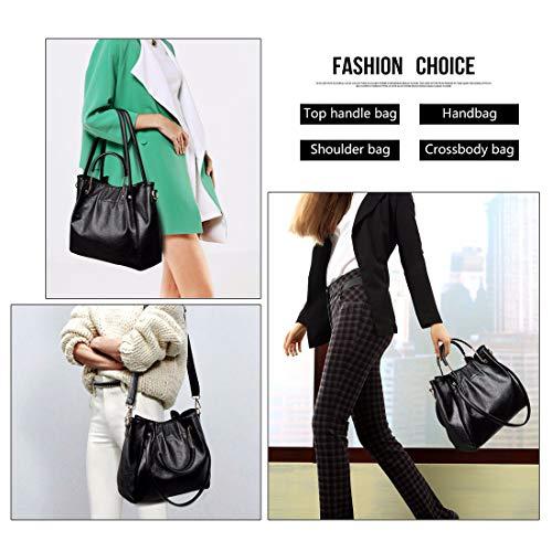 Shoulder Fashion Hobo Bag Totes Large Handbag Artwell Capacity Women Bag PU Purple Satchel Leather RtTWtqBwc
