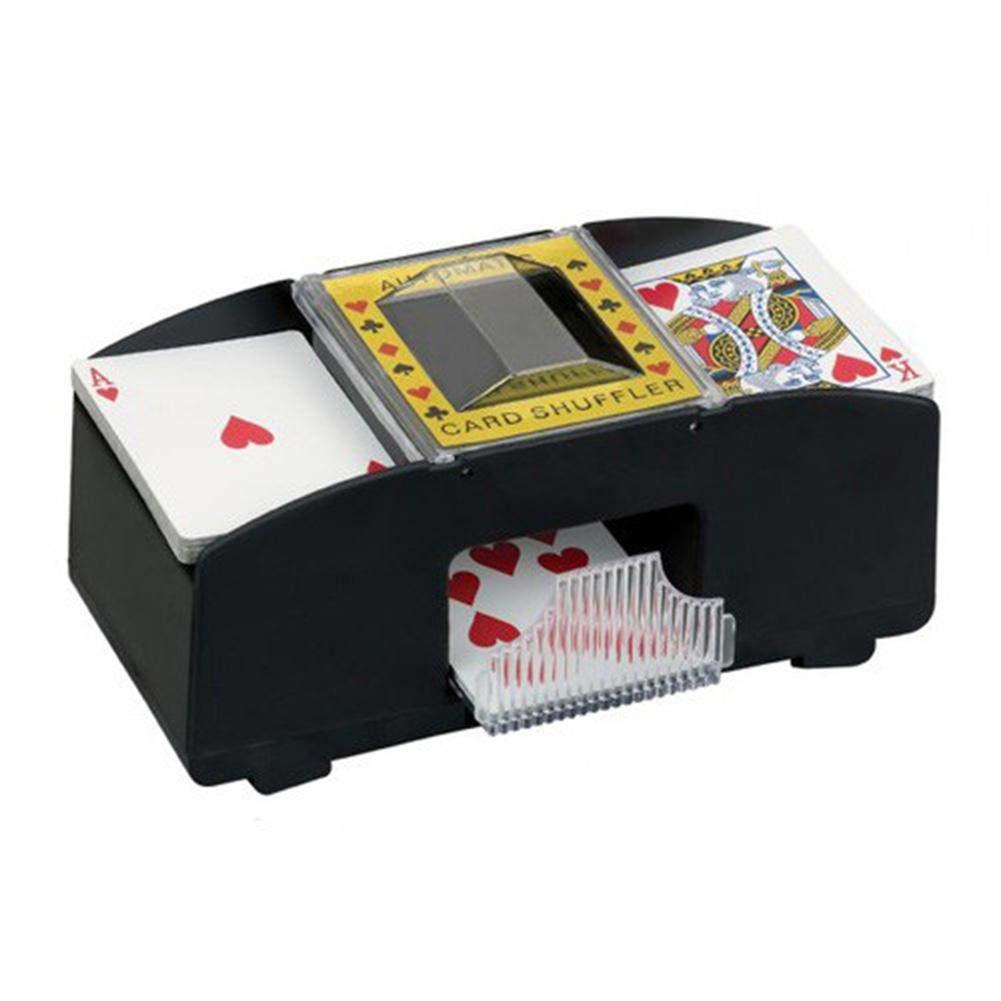 2 ponts Jeu de soci/ét/é de Cartes de Jeu de Poker Poker Shuffler Automatique en Plastique /électrique pour Les m/énages du Casino en Plein air Cherishly Shuffler Automatique de Cartes