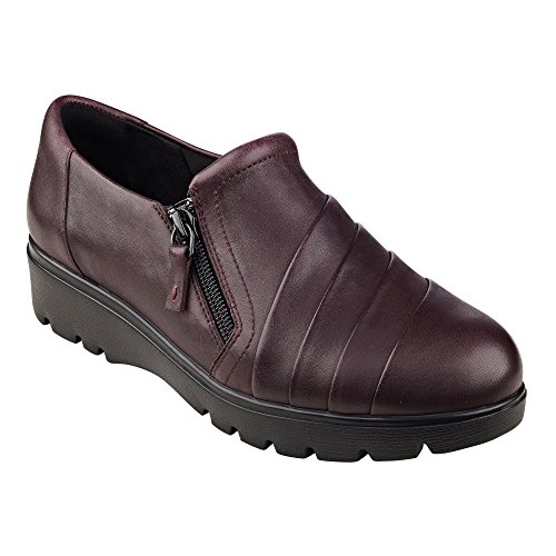 Easy Street Frauen Oakhill Leder Loafers Wine Leather