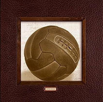 Vintage Soccer Poster Print By Sam Appleman 12 X