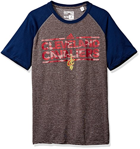 NBA Cleveland Cavaliers Adult Men Dazzler Tactical Climate Ultimate S/Tee, 2X-Large, Gray
