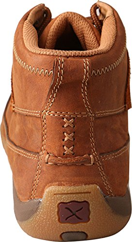 Twisted X Mujeres Oiled Saddle Con Cordones Zapatos De Conducción Moc Toe Brown