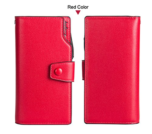 Blue Handbag Wallet Card Red E Women Wallets Credit Winsterch Leather Purse Organizer Clutch 8gq4zxPw