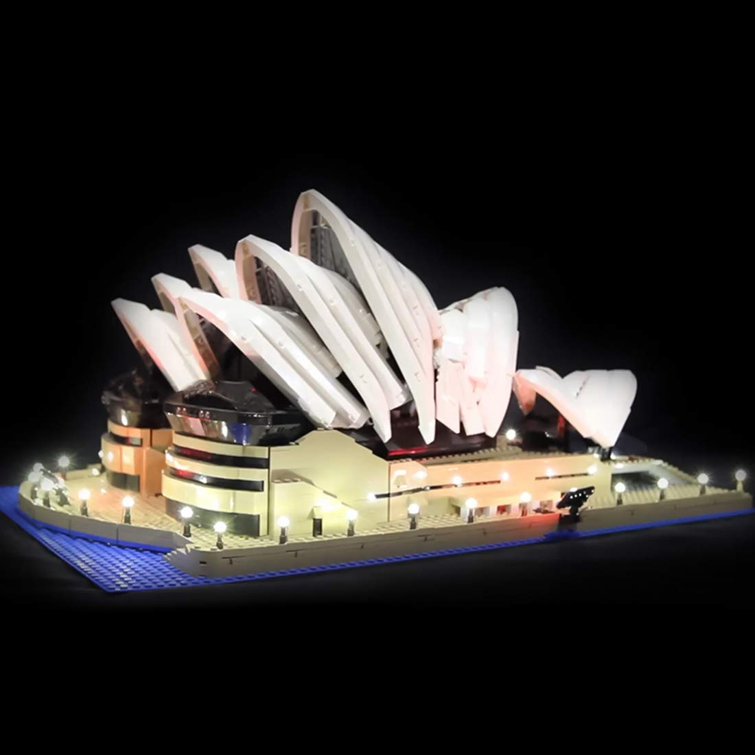 Poxl LED Beleuchtung Für Sydney Opera House LED Light LED Licht Kit Kompatibel Mit Lego10234 - Lego Modell Nicht Enthalten