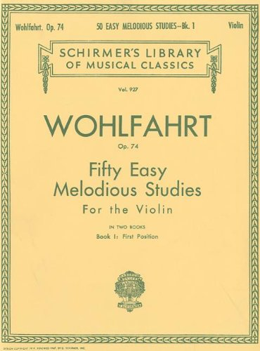 50 Easy Melodious Studies, Op. 74 - Book 1: Violin Method