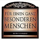 Udo Schmidt Aufkleber Flaschenetikett Etikett Für einen ganz besonderen Menschen gold elegant