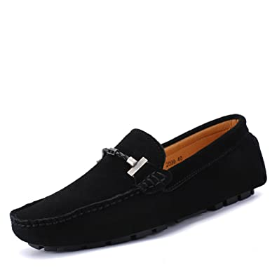 33ac4bbbd26 Eagsouni Mens Suede Leather Casual Loafers Smart Moccasin Shoes Slip On  Driving Boat Flat Shoes  Amazon.co.uk  Shoes   Bags