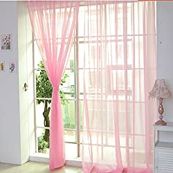 Paymenow 1 Piece Beautiful Sheer Window Elegance Curtains Drape Panels Treatment (78.7 inch x 39.3 inch, J)