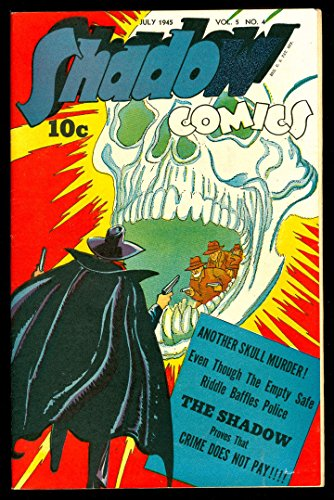 SHADOW COMICS v5#4 7.5 VF- 1945 STREET SMITH TOM REILLY WHITE PAPER HIGH - Street Fillmore Stores