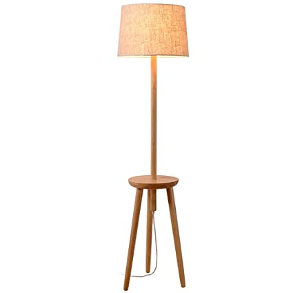 NAUY- Nordic Log Lamp Body Shade Lámpara De Pie Lámpara De ...
