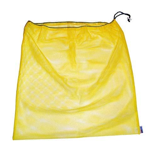 Laundry Bag - Eco-Friendly Reusable Mesh Travel Organizer for Clothes - Machine Wash with Drawstring - Orange - 24