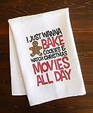 Christmas Kitchen Dishtowel - Bake Cookies and Watch Christmas Movies
