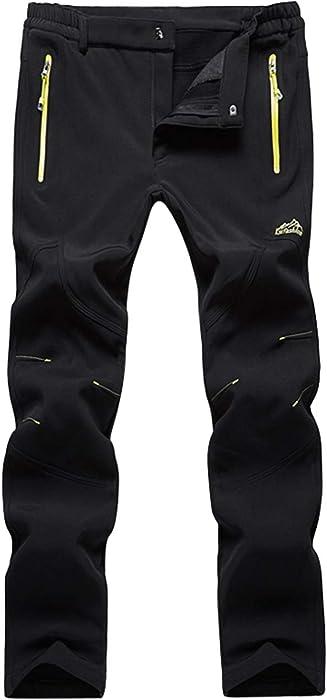 d2abe6c9c1dab Lachi Pantalon de Randonnée Polaire Imperméable pour Automne Hiver Homme