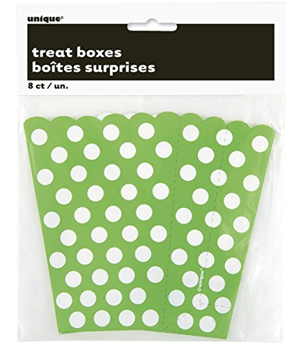 Green Polka Popcorn Treat Boxes