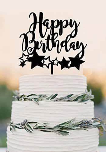 Amazon Com Cake Topper Happy Birthday Cake Topper