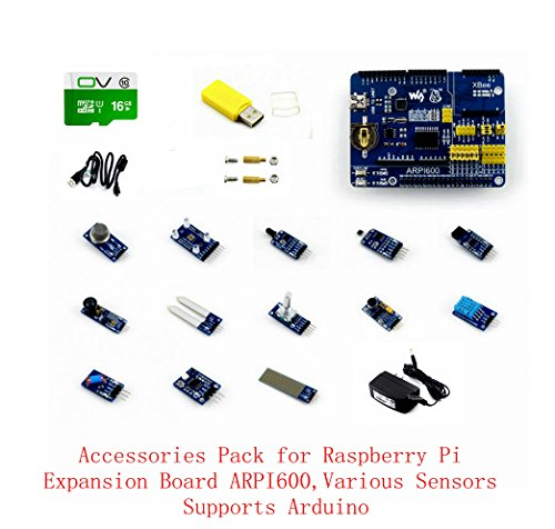 Venel Raspberry Pi Accessories @Pzsmocn With ARPI600,Sensors Pack,Cables and RPi Screws Pack (2pcs), Support Raspberry Pi 1 Model A+/A/B+/B by Venel