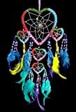 Handmade Beaded Rainbow Colorful Dream Catchers Hanging Decoration Ornament (with a Betterdecor Logo Bag)-BDH5