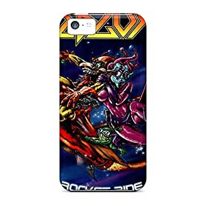 Excellent Hard Phone Cases For Apple Iphone 5c With Provide Private Custom Colorful Edguy Band Skin LisaSwinburnson
