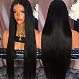 Jolitime Hair Black Hair Wigs Long Straight Synthetic Lace...
