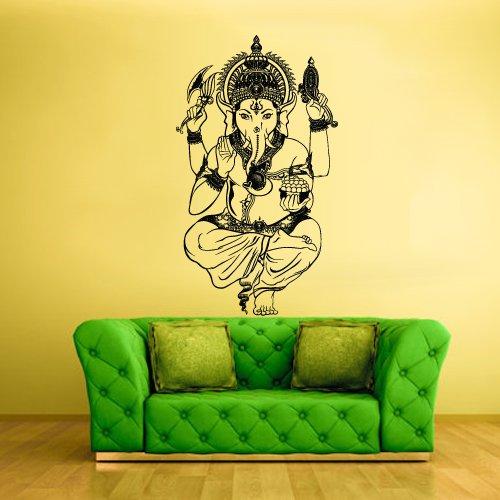 Wall Vinyl Sticker Decals Decor Art Bedroom Kids Design Mural Wall Decal Ganesh Ganesha Lord of Success India Budda Buda (Z244)