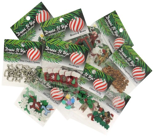 Jesse James Buttons (DRESS IT UP BUTTONS CHRISTMAS 12 PACK ASSORTMENT)
