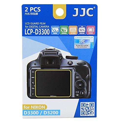 JJC 2pcs HD PET Film Camera Screen Protector Shield Display Cover LCD Guard for for Nikon D3500 D3400 D3300 D3200 Camera