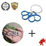 Meanhoo Carbon steel para-biner carabiner Pulley System Carabiner for Tools & Survival Wire Saw Emergency Fretsaw Hunting Scroll Cutter Steel Ring Tool Sets